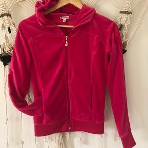 Juicy Couture Hot Pink Velour Hoodie GUC